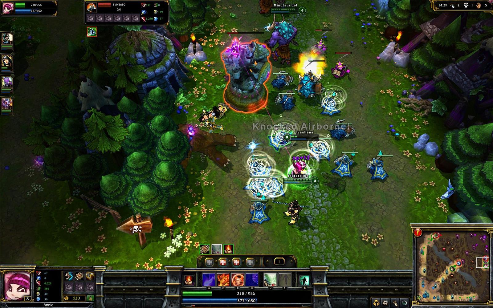 Riot Gamesの人気タイトル『League of Legends』のプレイ画面